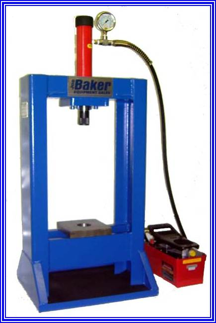 BBP10 Piston Pin Removal Press With Air Hydraulic Foot Controlled & Power Pack